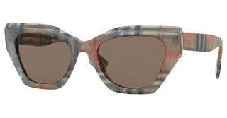 Burberry BE4299 383273 BROWNTOP TRANSP ON VINTAGE CHECK