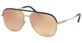 Bvlgari BV5047Q 20134Z GREY MIRROR ROSE GOLDBLACK/MATTE PINK GOLD