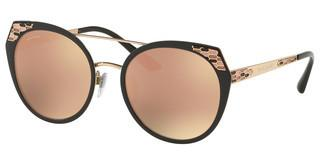 Bvlgari BV6095 20244Z GREY MIRROR ROSE GOLDBLACK DEMI MATTE/ROSE GOLD