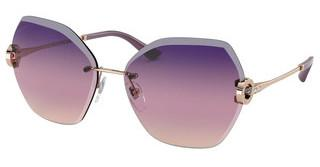 Bvlgari BV6105B 2014U6 GRADIENT BROWN/VIOLET/BLUEPINK GOLD