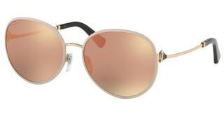 Bvlgari BV6106B 20144Z GREY MIRROR ROSE GOLDPINK GOLD/MATTE PINK