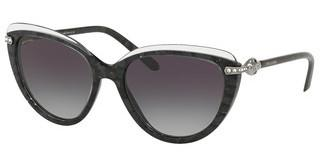Bvlgari BV8211B 54668G GREY GRADIENTTOP CRYSTAL ON BLACK MAMBA