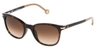 Carolina Herrera SHE650V 0722 BROWN GRADIENTSHINY DARK HAVANA