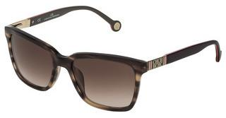 Carolina Herrera SHE692 06HN BROWN GRADIENTMARRONE TRASPARENTE STRIATO