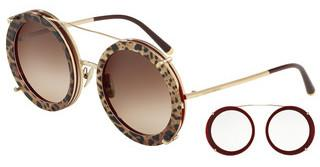Dolce & Gabbana DG2198 131813 BROWN GRADIENTGOLD/BORDEAUX LEO