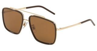 Dolce & Gabbana DG2220 488/83 DARK/LIGHT BROWN GRADIENTPALE GOLD/BROWN