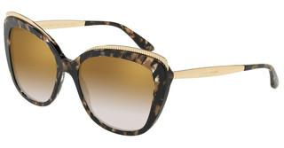 Dolce & Gabbana DG4332 911/6E GRAD LIGHT BROWN MIRROR GOLDCUBE BLACK/GOLD