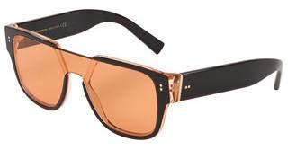 Dolce & Gabbana DG4356 323974 DARK ORANGEBLACK ON TRANSPARENT ORANGE