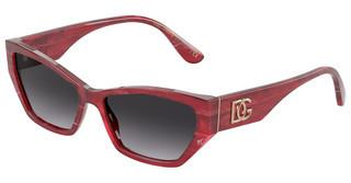 Dolce & Gabbana DG4375 32528G LIGHT GREY GRADIENT BLACKBORDEAUX MARBLE