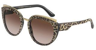 Dolce & Gabbana DG4383 316313 BROWN GRADIENT DARK BROWNLEO BROWN ON BLACK