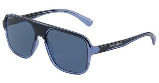Dolce & Gabbana DG6134 325880 DARK BLUETRANSPARENT BLUE/BLACK