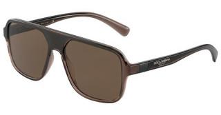 Dolce & Gabbana DG6134 325973 BROWN GRADIENT DARK BROWNTRANSPARENT BROWN/BLACK