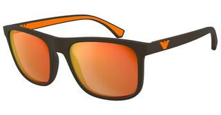 Emporio Armani EA4129 5752F6 ORANGE MIRROR REDMATTE BROWN