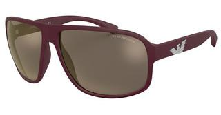 Emporio Armani EA4130 57515A LIGHT BROWN MIRROR GOLDMATTE BORDEAUX