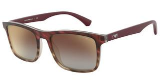 Emporio Armani EA4137 57906K MIRROR GRADIENT VIOLETMATTE STRIPED BORDEAUX