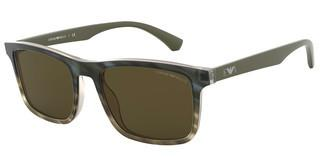Emporio Armani EA4137 579173 BROWNMATTE STRIPED MILITARY GREEN