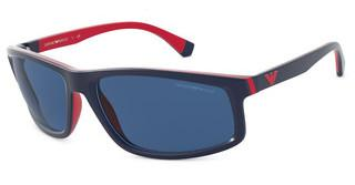 Emporio Armani EA4144 575480 BLUEMATTE BLUE & RUBBER RED