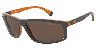 Emporio Armani EA4144 580073 BROWNMATTE GREY & RUBBER ORANGE