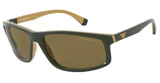 Emporio Armani EA4144 582973 BROWNMATTE GREEN & RUBBER GOLD