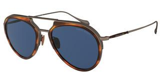 Giorgio Armani AR6097 325980 BLUESTRIPED BROWN/BRUSHED BRONZE