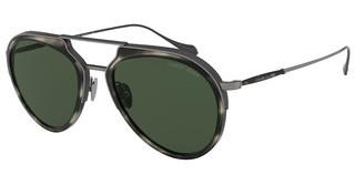 Giorgio Armani AR6097 326071 GREENSTRIPED GREY/BRUSHED GREY