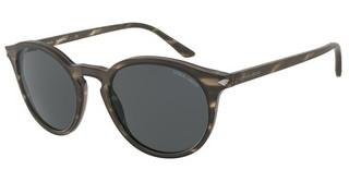 Giorgio Armani AR8122 577287 GREYMATTE STRIPED BROWN