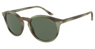 Giorgio Armani AR8122 577371 GREENMATTE STRIPED GREEN
