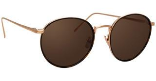 Linda Farrow LFL704 C8 SOLID BROWNROSE GOLD/ T-SHELL