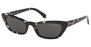 Miu Miu MU 10US PC75S0 DARK GREYHAVANA BLACK WHITE