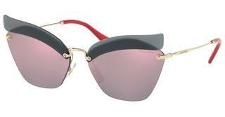 Miu Miu MU 56TS I18147 DARK GREY MIRROR PINKOPAL DARK BLUE