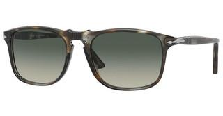 Persol PO3059S 112471 GREY GRADIENTSTRIPED BROWN/CRYSTAL
