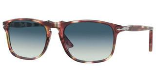 Persol PO3059S 112532 GREY GRADIENT BLUESTRIPED BORDEAUX/GREEN