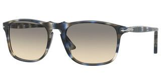 Persol PO3059S 112632 CLEAR GRADIENT GREY + AR BLUESTRIPED BLUE/GREY