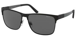 Polo PH3128 939787 GREYMATTE BLACK ON SHINY BLACK