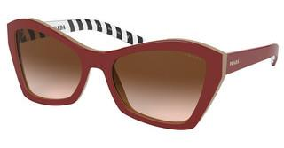Prada PR 07XS 5436S1 BROWN GRADIENTTOP RED/BEIGE