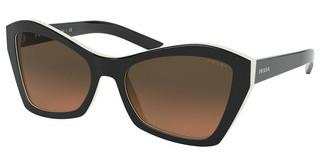 Prada PR 07XS 5460AO ORANGE GRADIENT LIGHT GREYTOP BLACK/IVORY