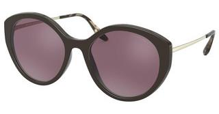 Prada PR 18XS DHO04C POLAR PINK MIRROR FLASH SILVERBROWN