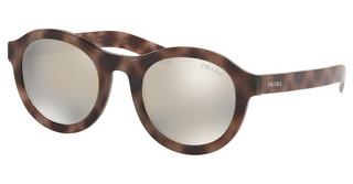 Prada PR 24VS 520719 LIGHT BROWN MIRROR SILVERSPOTTED DARK BROWN
