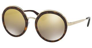 Prada PR 50TS 2AU6O0 LIGHT BROWN MIRROR GOLD GRADTORTOISE