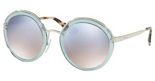 Prada PR 50TS VYS5R0 GRAD LIGHT BLUE MIRROR SILVERTRANSPARENT AZURE