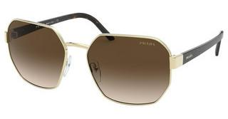 Prada PR 54XS ZVN6S1 BROWN GRADIENTPALE GOLD