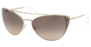 Prada PR 65VS ZVN3D0 LIGHT BROWN GRAD LIGHT GREYPALE GOLD