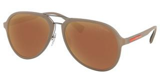 Prada Sport PS 05RS CCHHD0 DARK BROWN MIRROR GOLDBROWN RUBBER