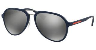Prada Sport PS 05RS TFY7W1 GREY MIRROR SILVERBLUE RUBBER