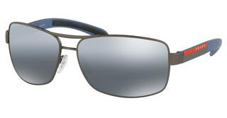 Prada Sport PS 54IS DG12F2 POLAR GREY MIRROR GRAD SILVERGUNMETAL RUBBER