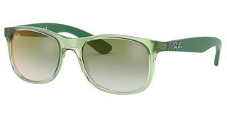 Ray-Ban Junior RJ9062S 7053W0 GREEN MIRROR REDTRASPARENT GREEN