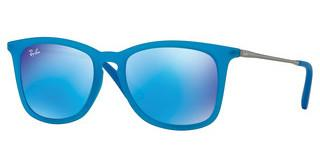 Ray-Ban Junior RJ9063S 701155 LIGHT GREEN MIRROR BLUEAZURE FLUO TRASP RUBBER