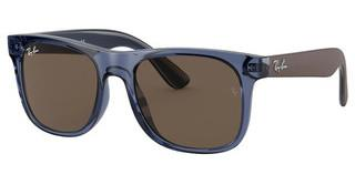 Ray-Ban Junior RJ9069S 706873 DARK BROWNTRANSPARENT BLUE