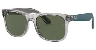 Ray-Ban Junior RJ9069S 707071 DARK GREENTRANSPARENT GREY