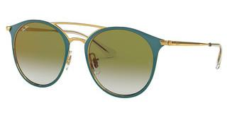 Ray-Ban Junior RJ9545S 275/W0 GREEN MIRROR REDGOLD ON TOP TURQUOISE